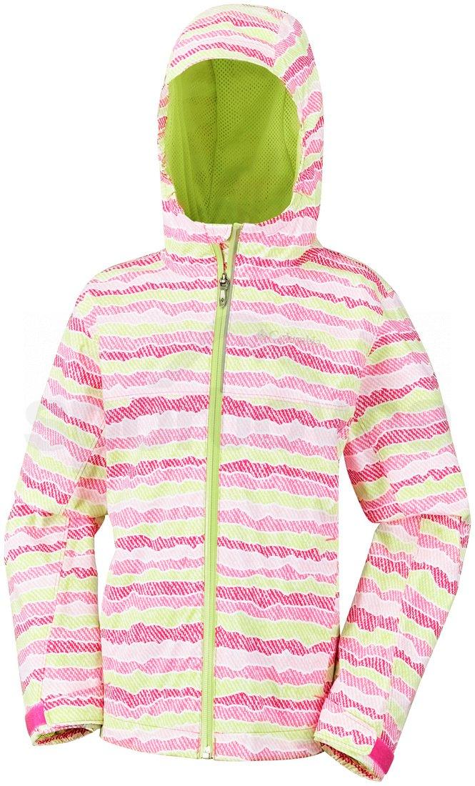 Bunda Columbia Splash Maker™ III Rain Jacket J - růžová/zelená
