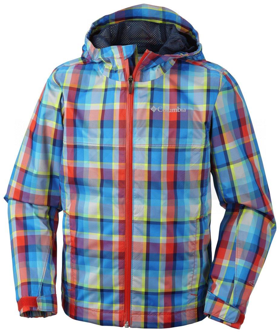 Bunda Columbia Splash Maker™ II Rain Jacket J - modrá/červená