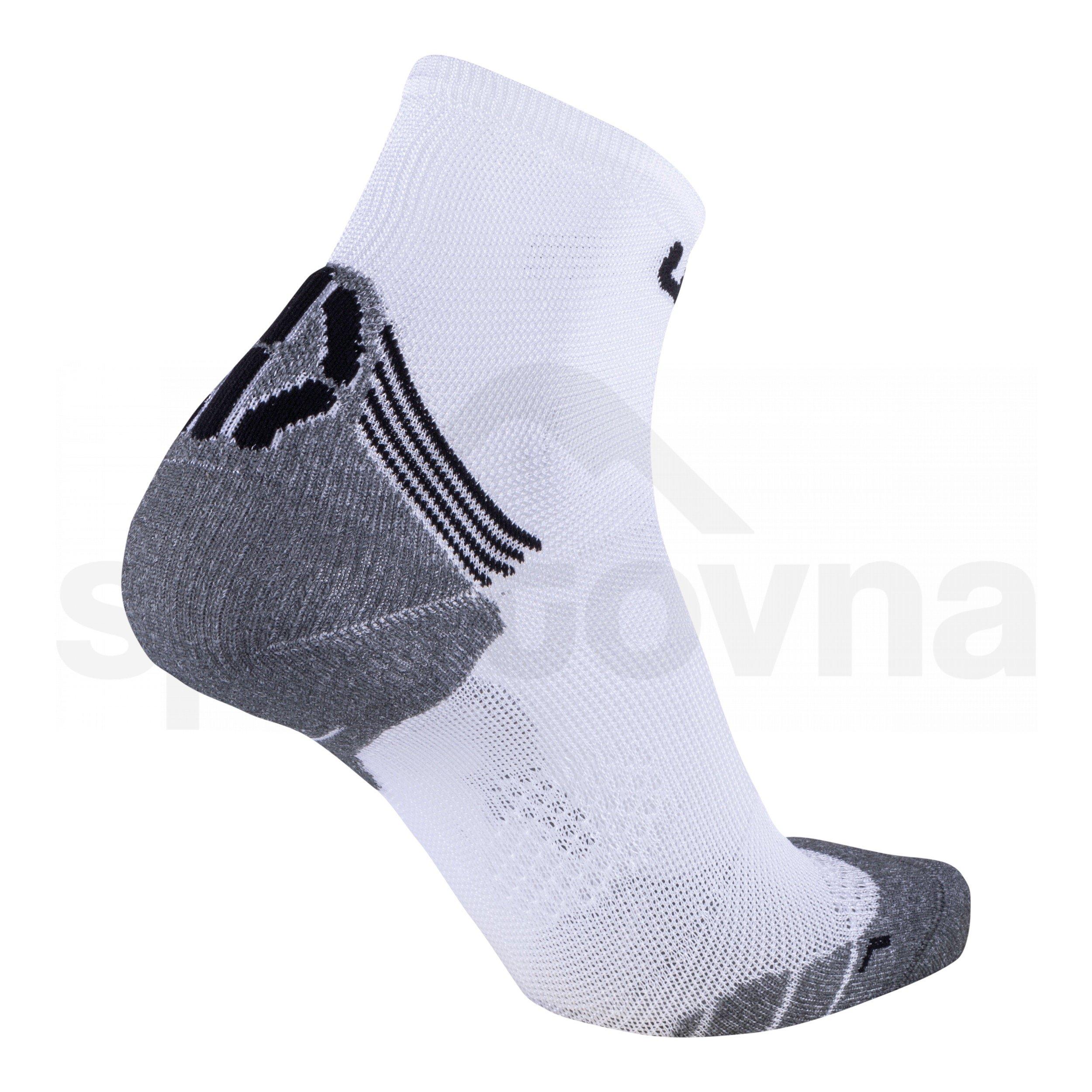 Pánské ponožky UYN RUN SUPERLEGGERA SOCKS - bílá/šedá