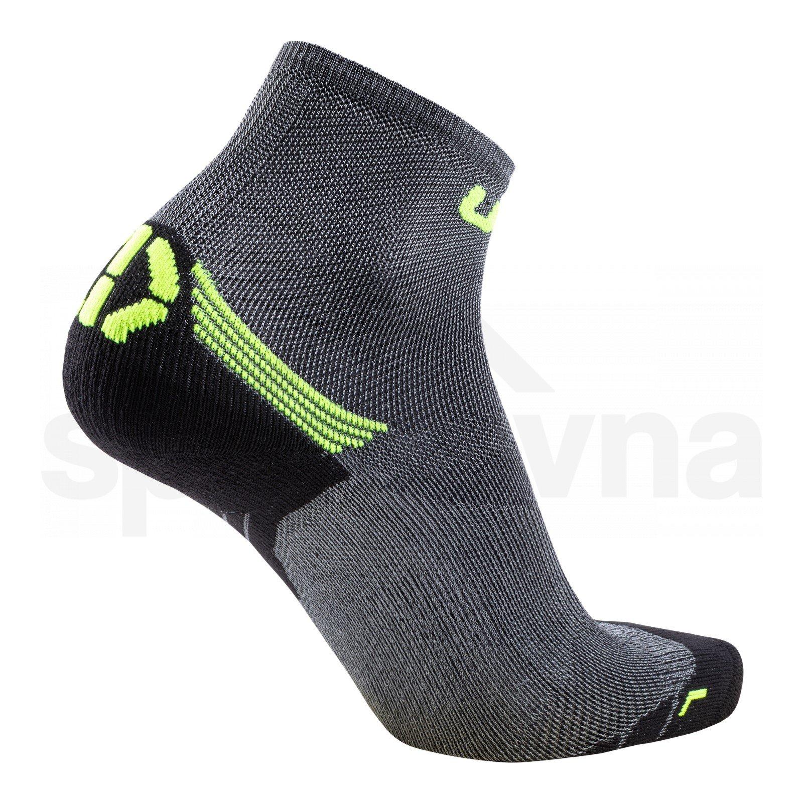 Pánské ponožky UYN RUN SUPERLEGGERA SOCKS - šedá/žlutá