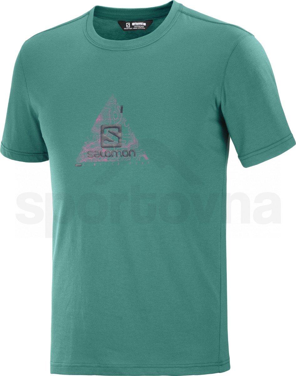 Tričko Salomon EXPLORE BLEND TEE M - zelená