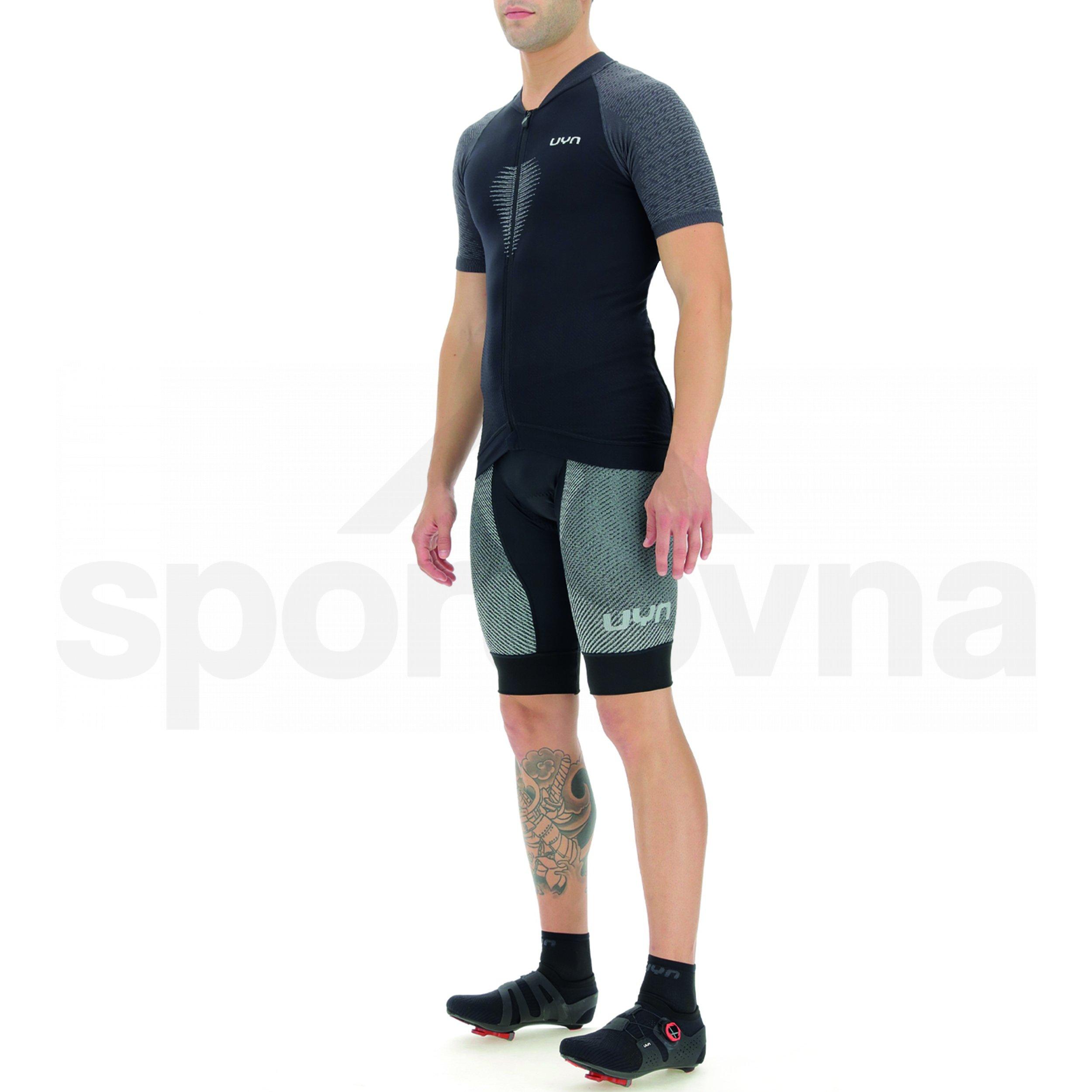 Cyklistický dres UYN Biking Granfondo M - černá/šedá