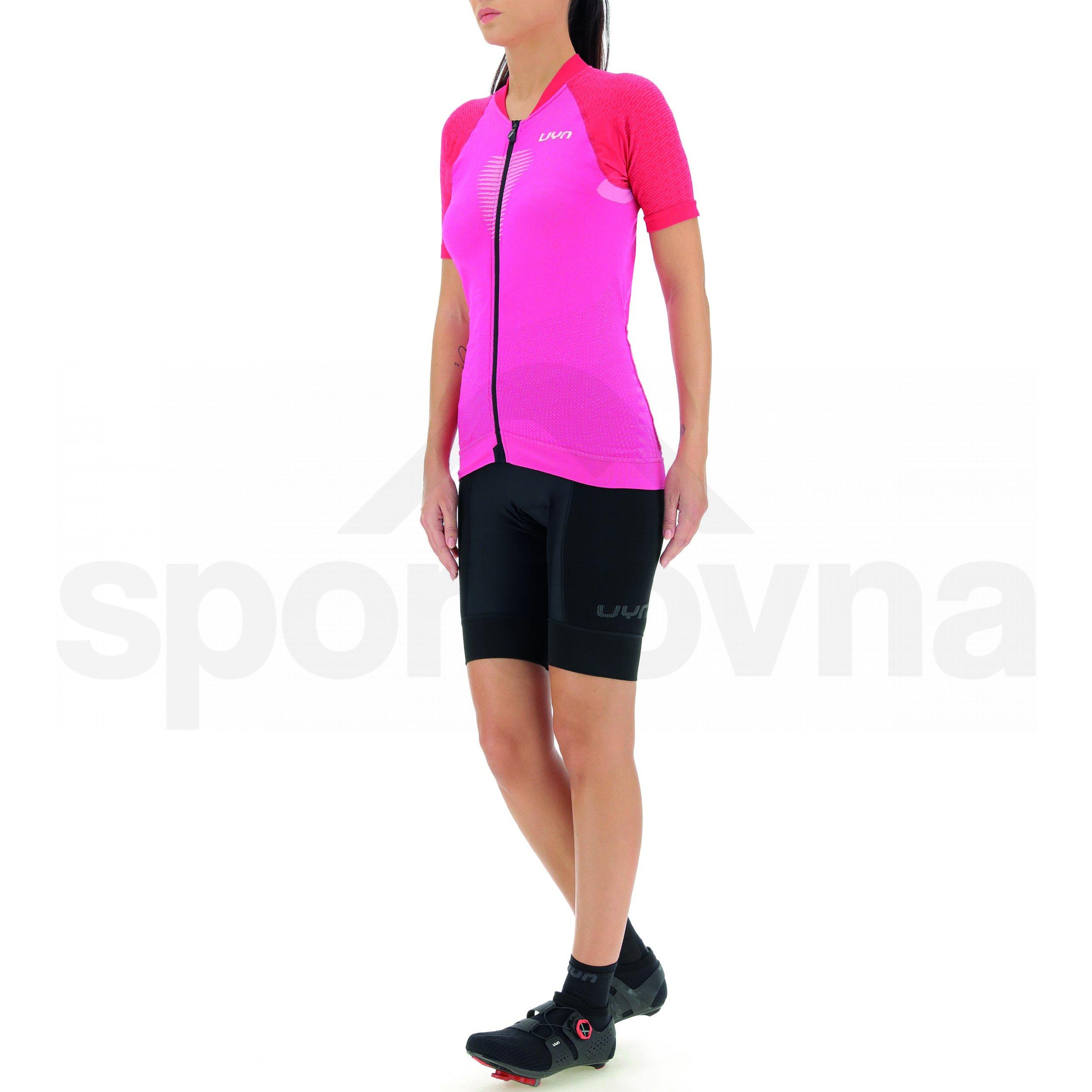 Cyklistický dres UYN Biking Grandfondo W - červená/růžová