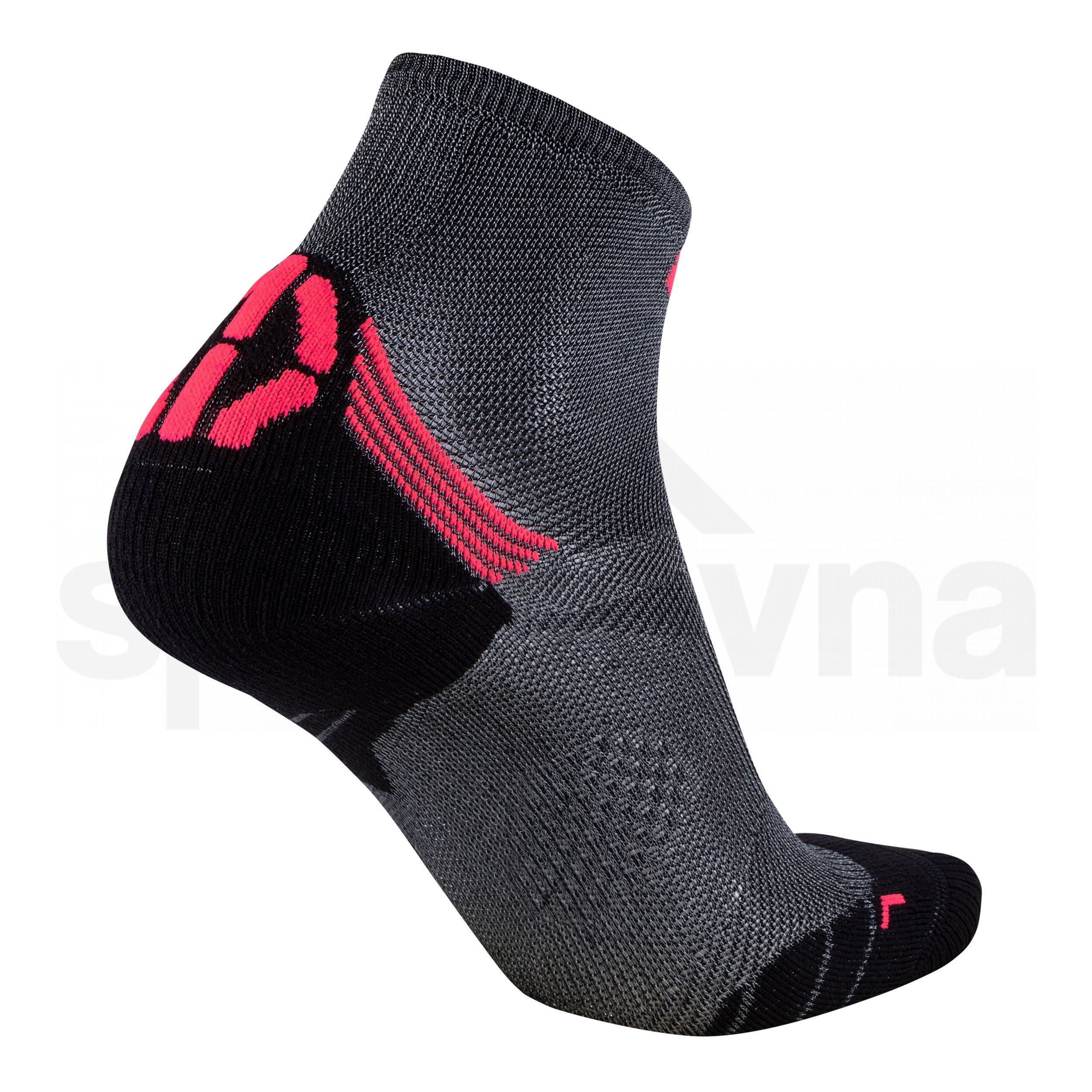 Dámské ponožky UYN RUN SUPERLEGGERA SOCKS - šedá/růžová