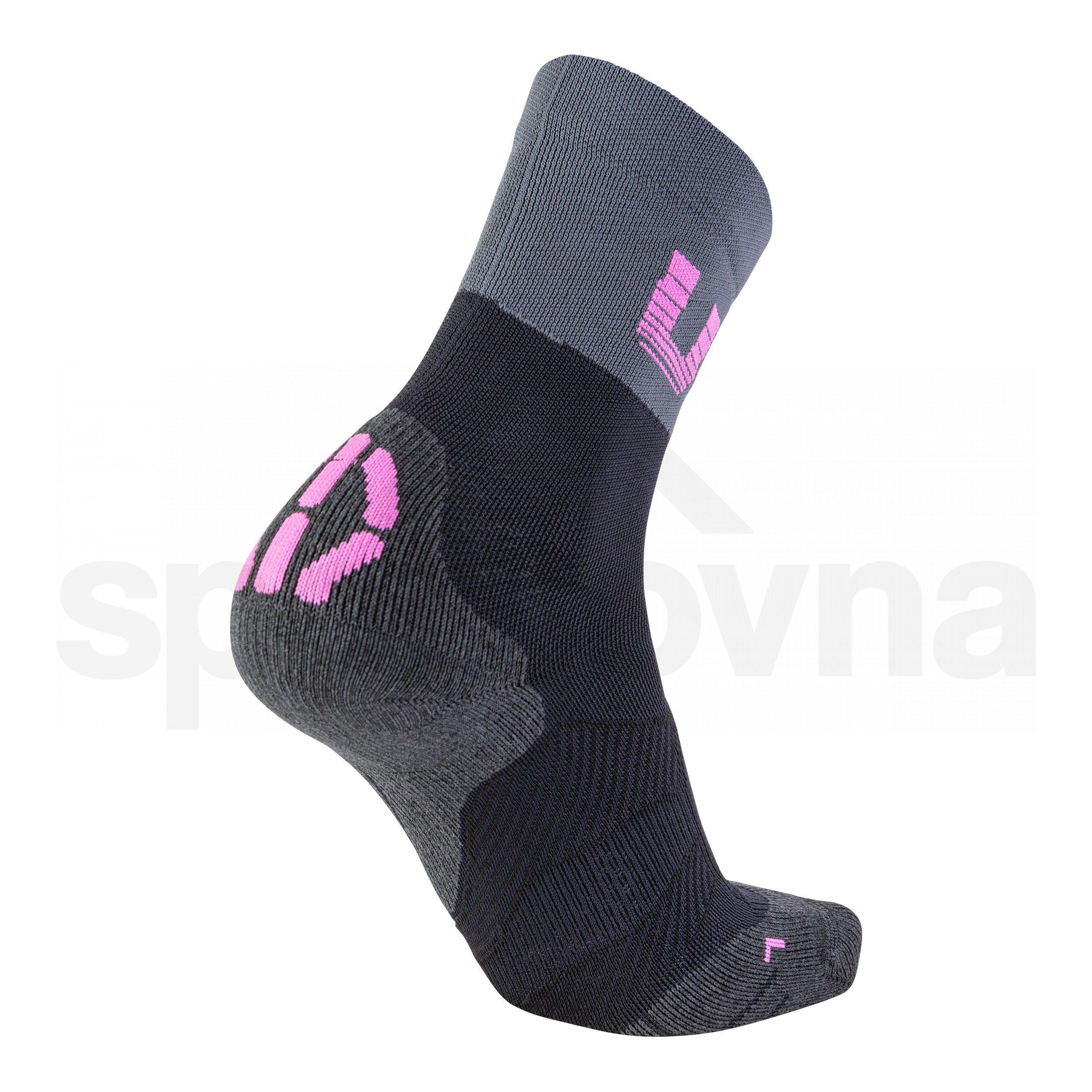Ponožky UYN Cycling Light Socks W - černá/šedá/růžová