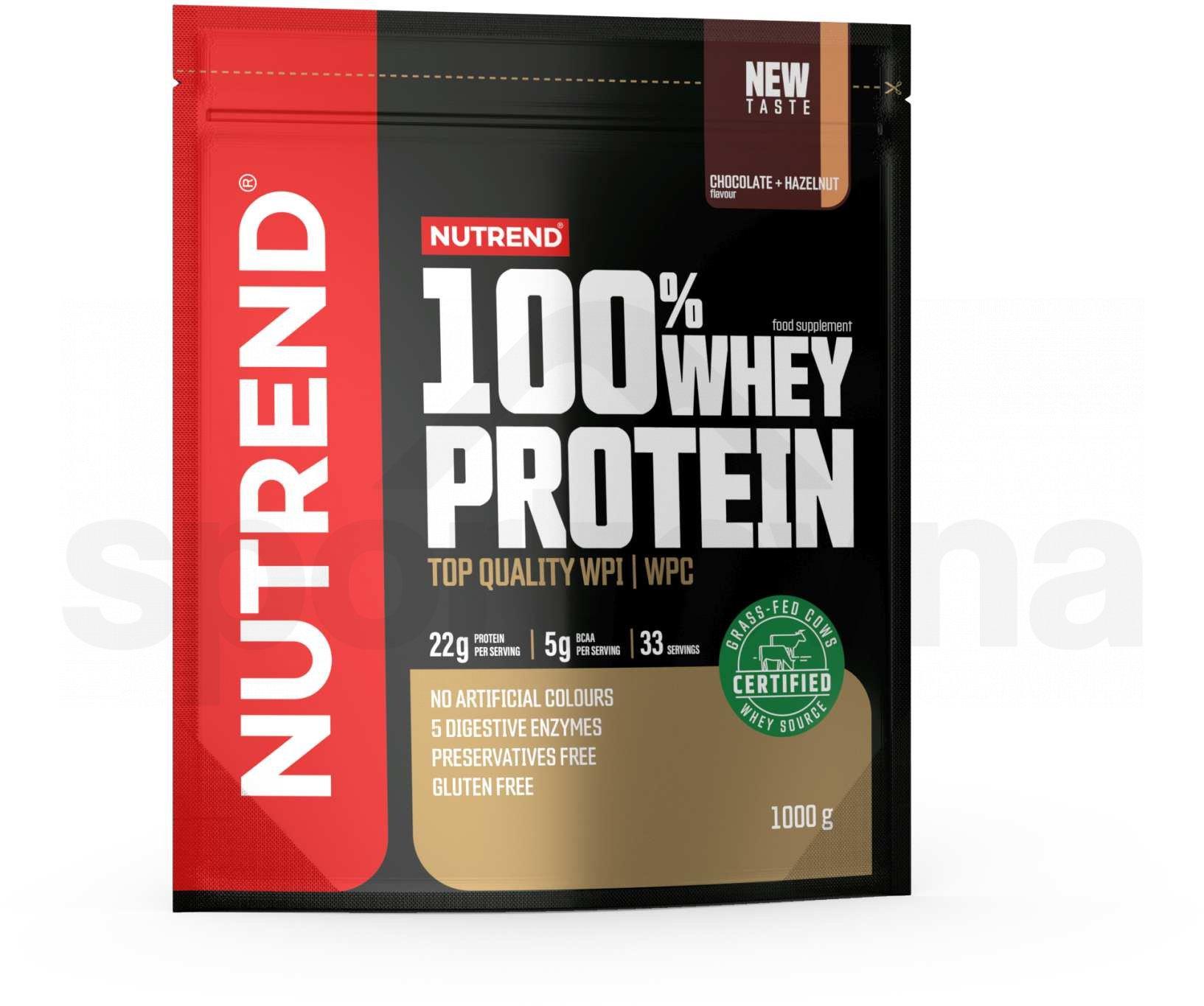 Nutrend 100% Whey Protein 1000g - čokoláda+lískový oříšek