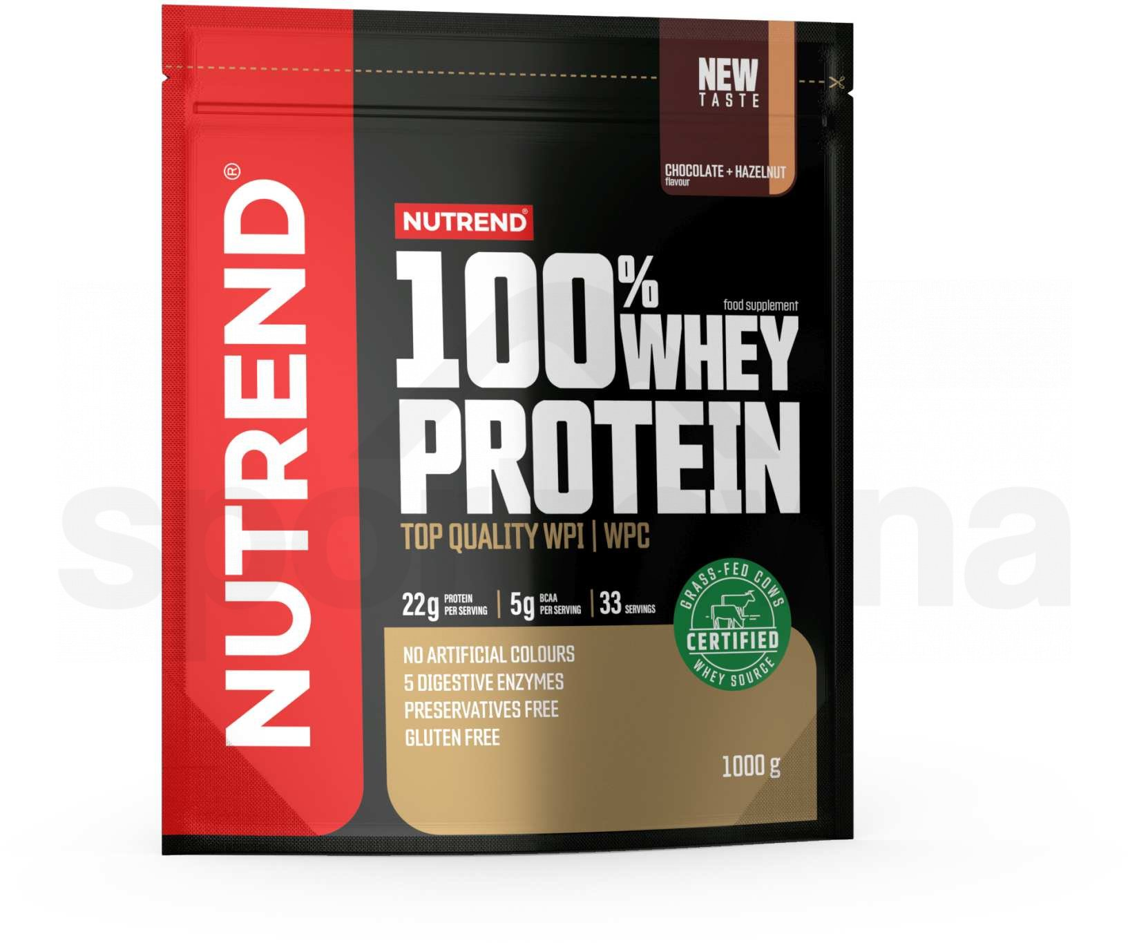 Nutrend 100% Whey Protein 1000g - čokoláda+lískový oříšek 2
