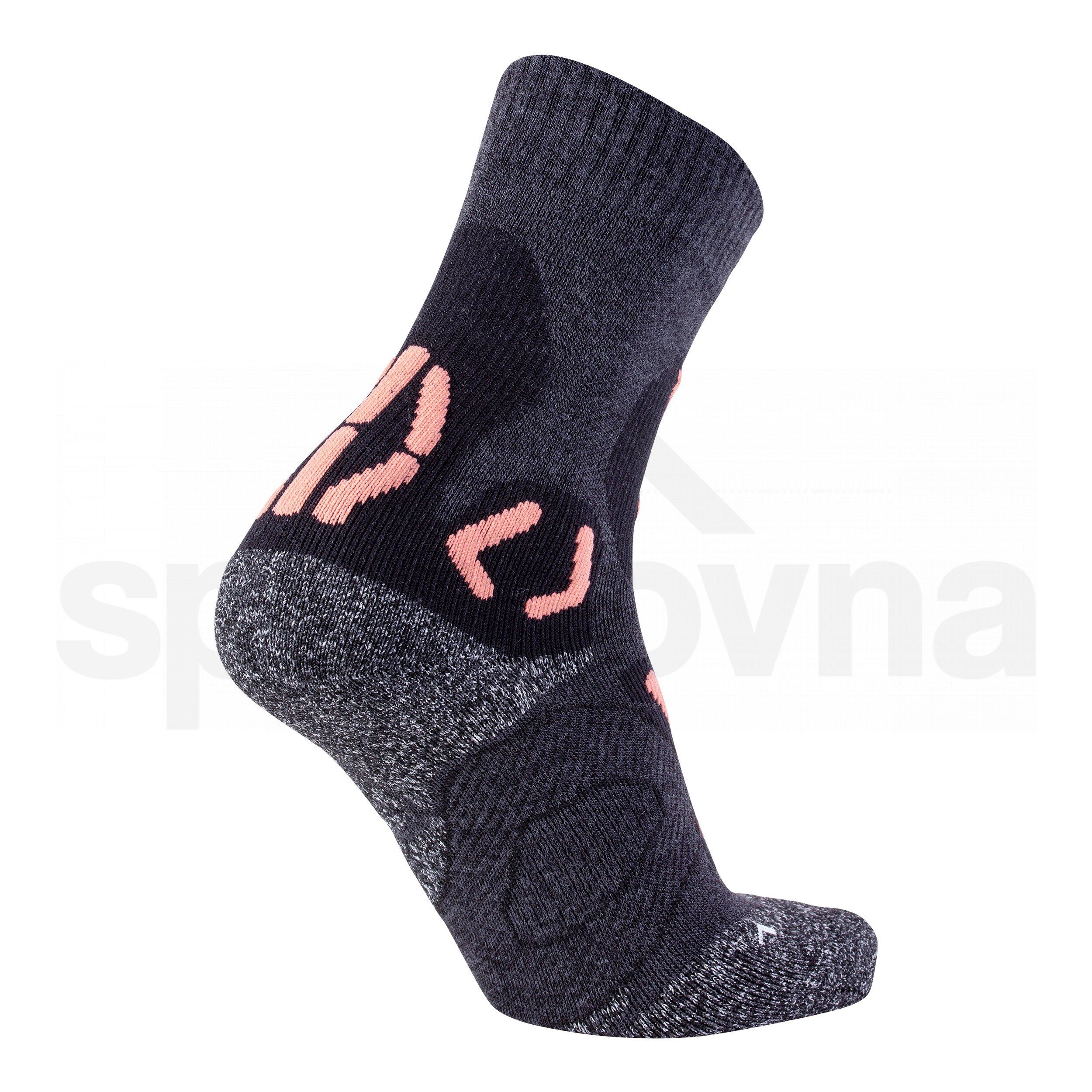 Dámské ponožky UYN TREKKING NATURE MERINO - šedá/růžová