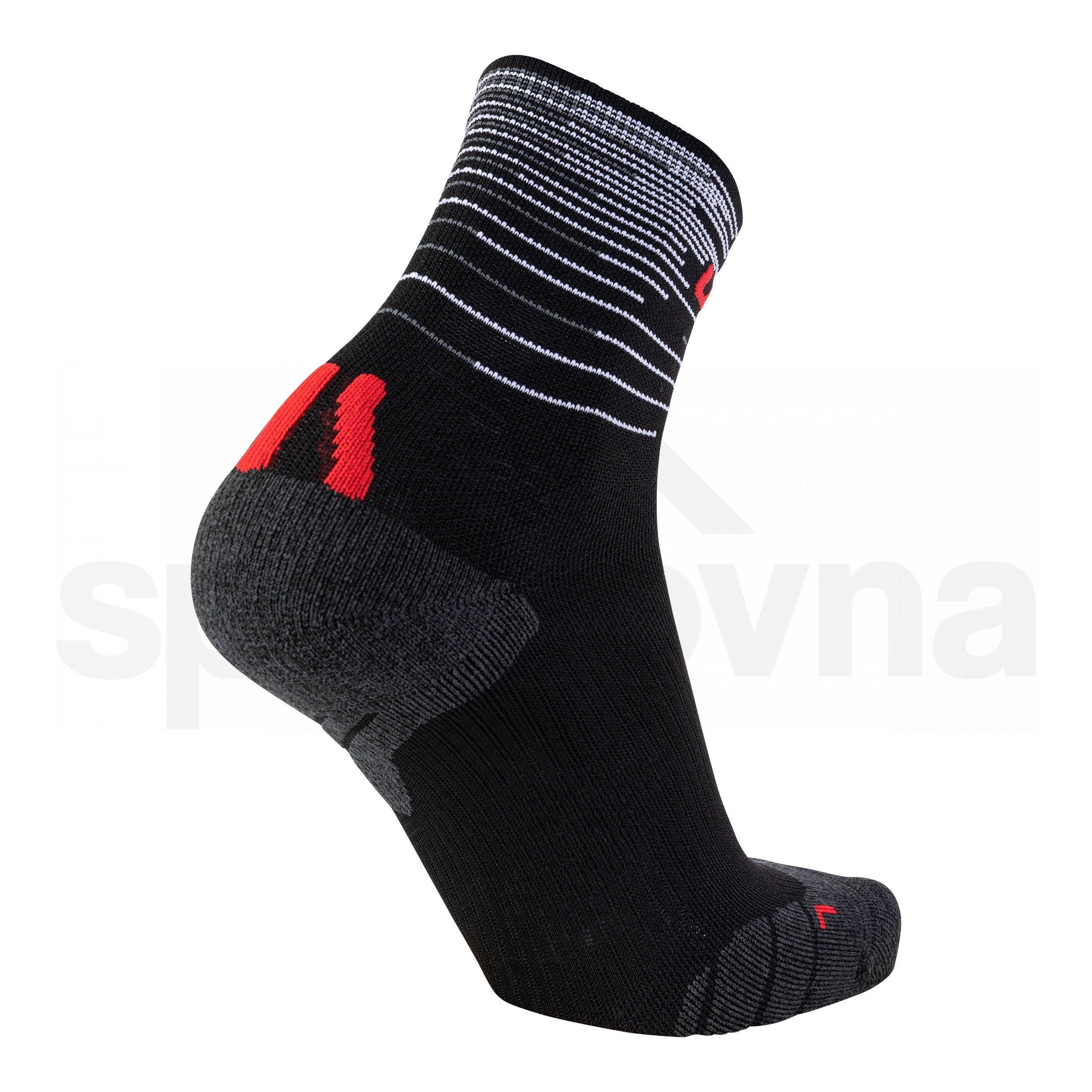 Pánské ponožky UYN FREE RUN SOCKS S100139B102 - black/red