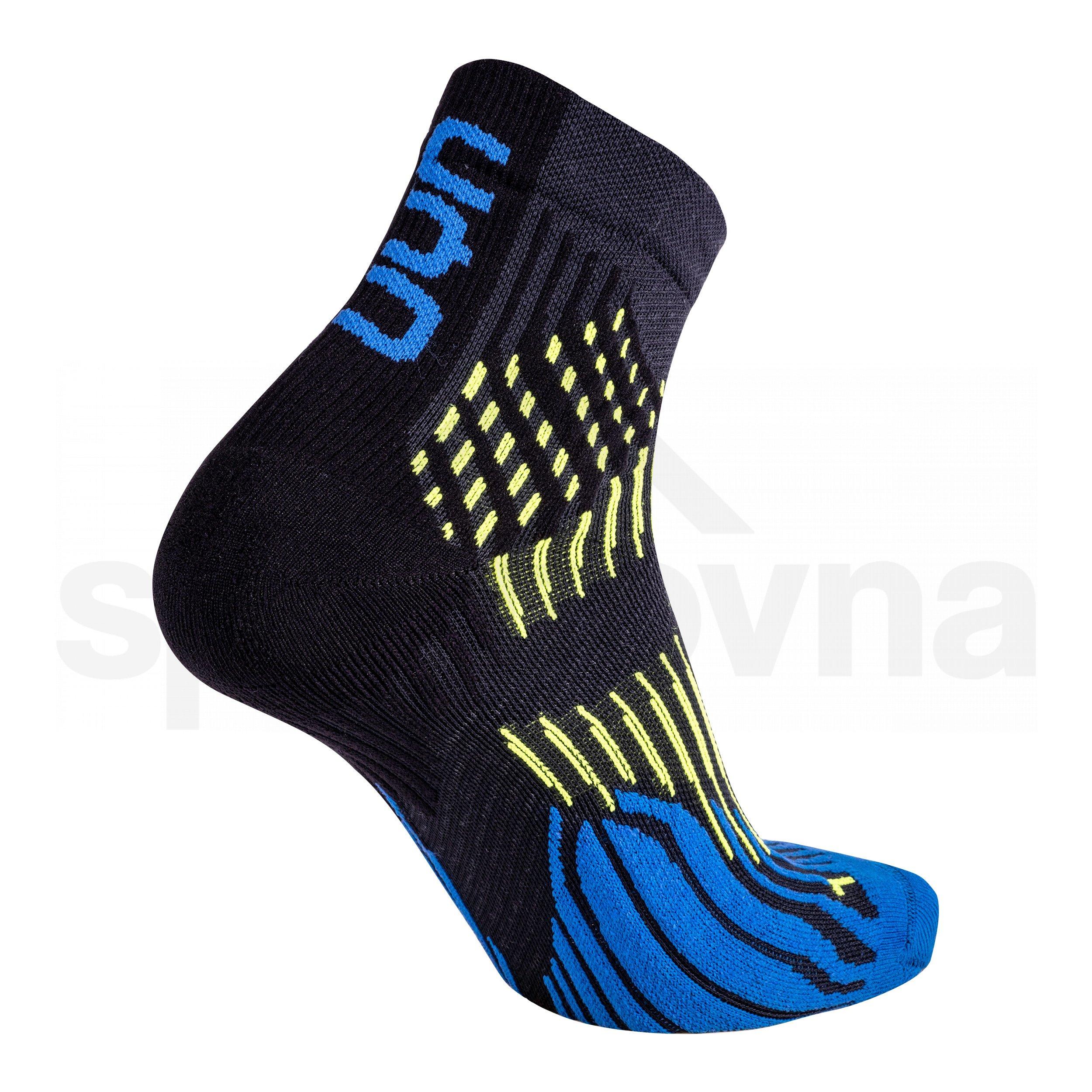 Pánské ponožky UYN RUN SHOCKWAVE SOCKS - černá/modrá/žlutá