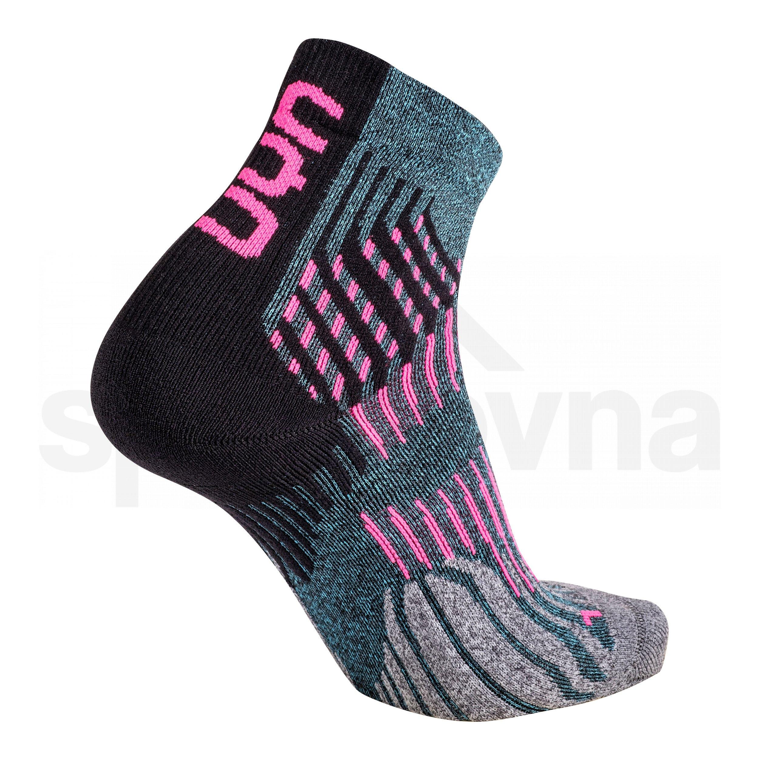 Dámské ponožky UYN RUN SHOCKWAVE SOCKS - šedá/růžová