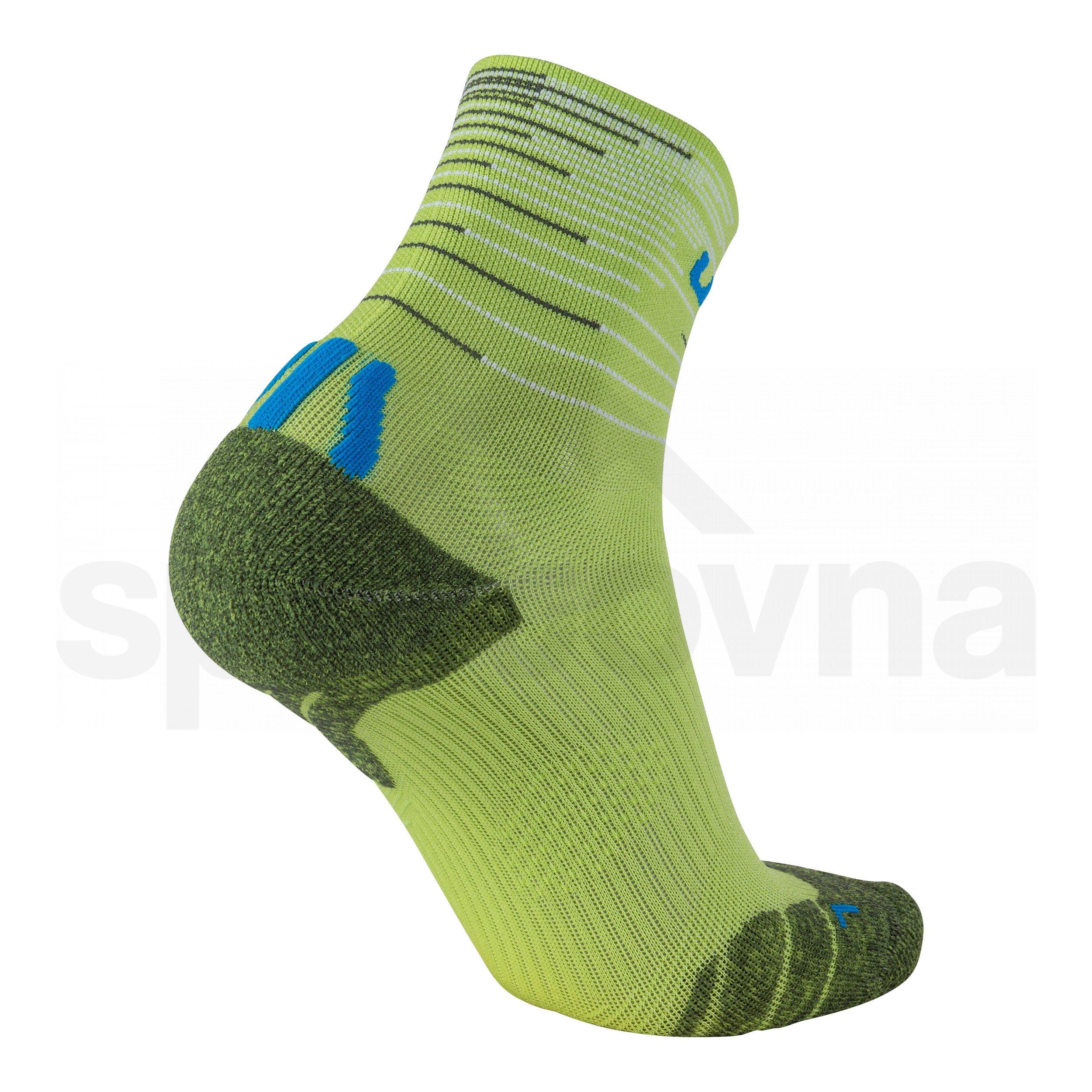 Pánské ponožky UYN FREE RUN SOCKS 2 PÁRY - černá/zelená