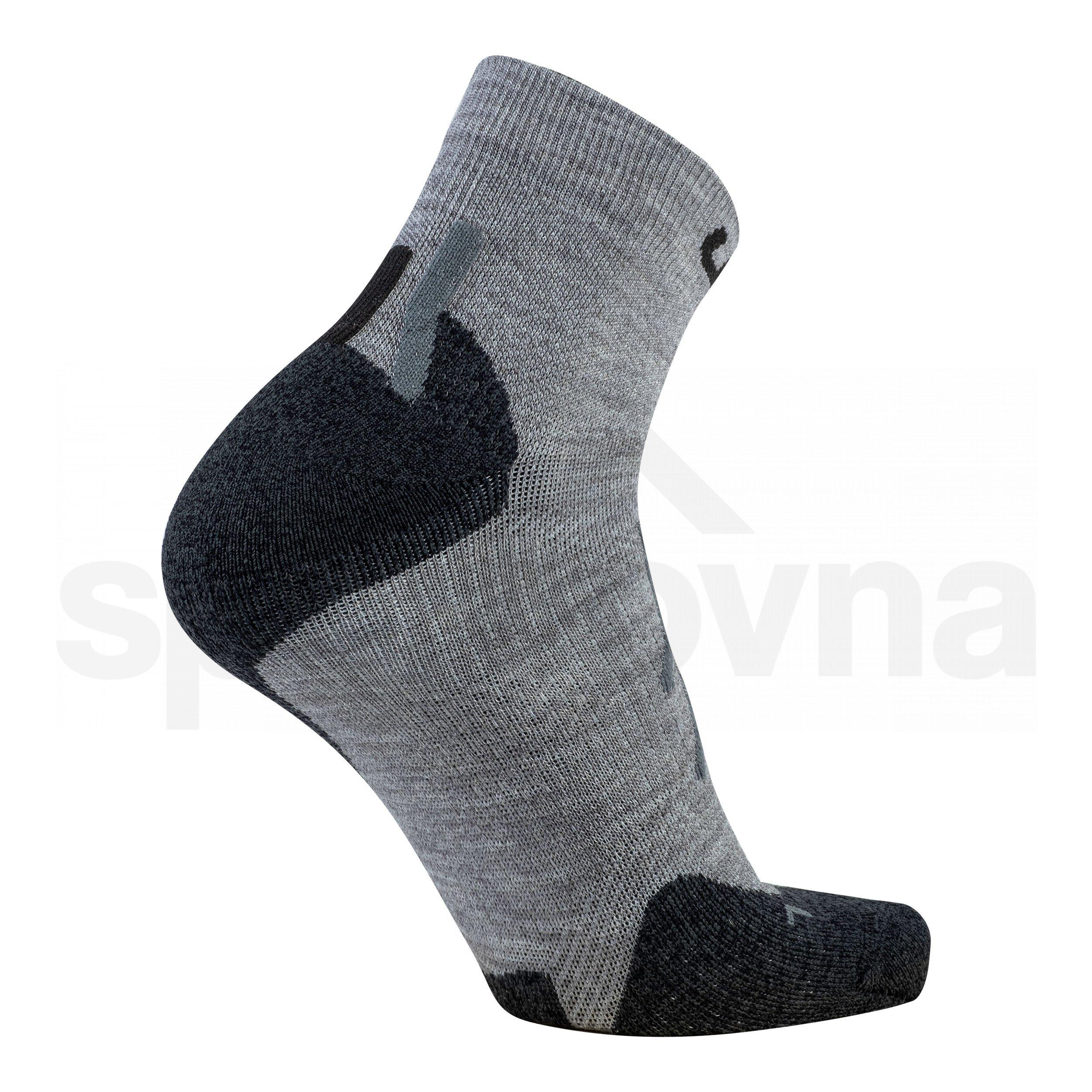 Dámské ponožky UYN TREKKING APPROACH MERINO LOW CUT SOCKS - šedá/černá