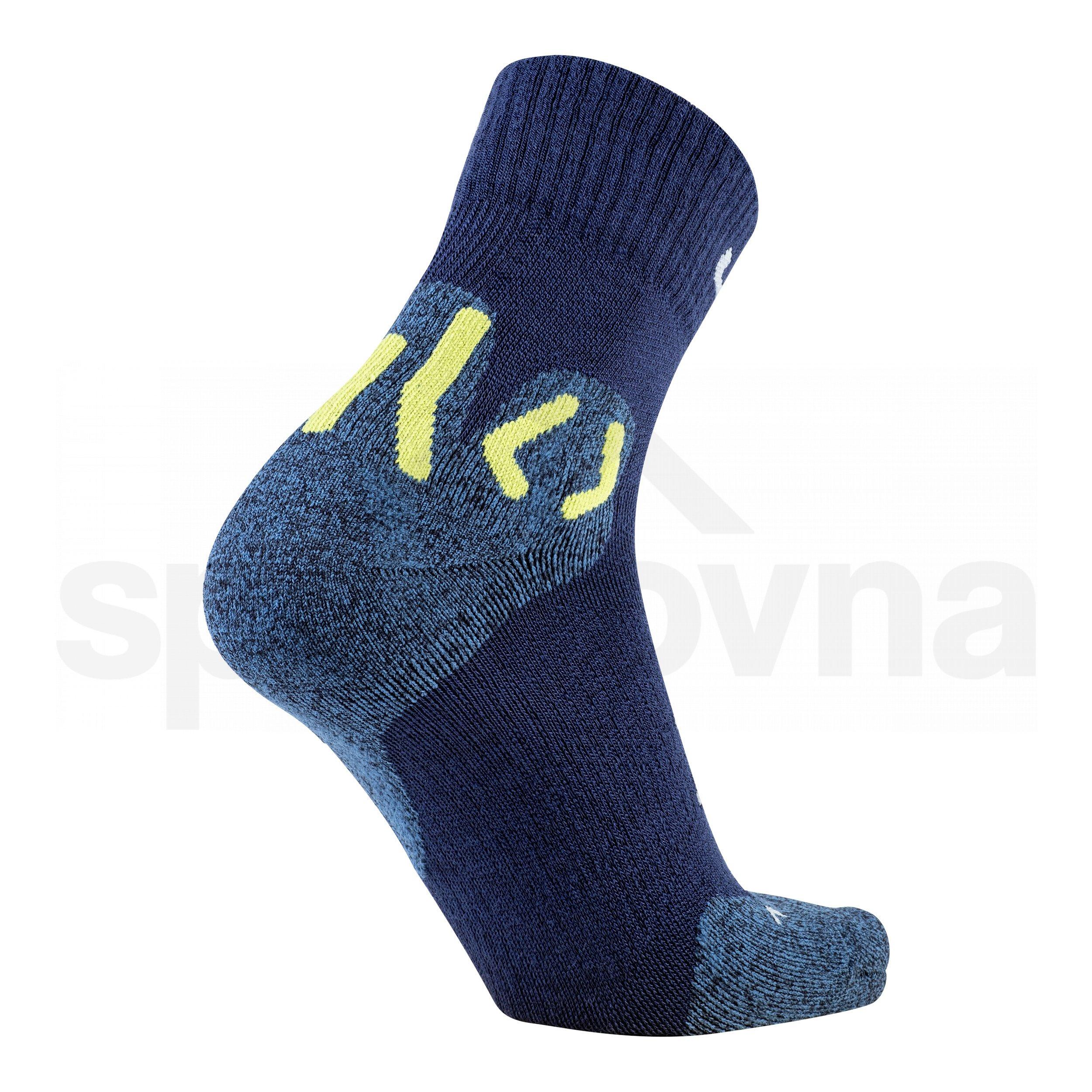Pánské ponožky UYN TREKKING APPROACH MERINO MID SOCKS - modrá/žlutá