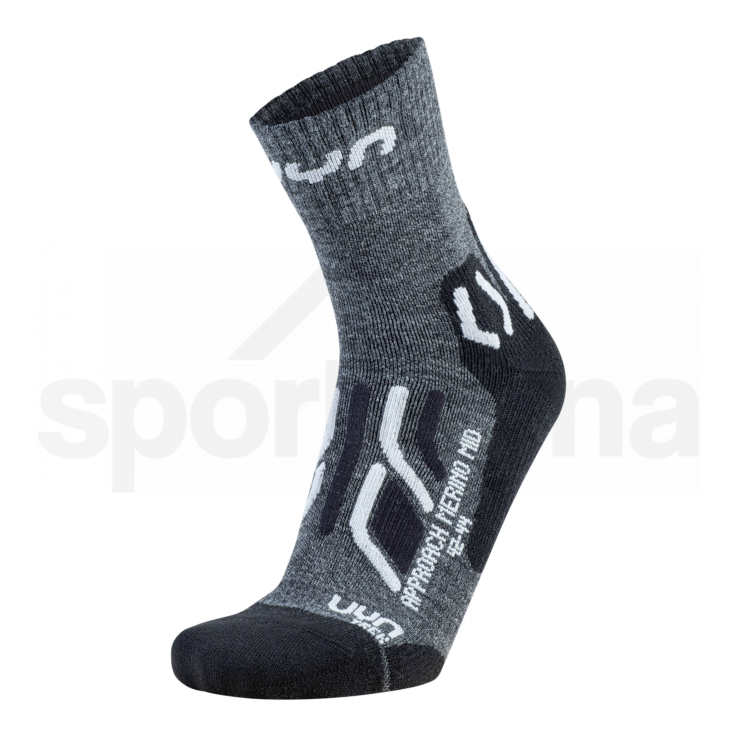 Dámské ponožky UYN TREKKING APPROACH MERINO MID SOCKS S100203G035 - anthracite/black