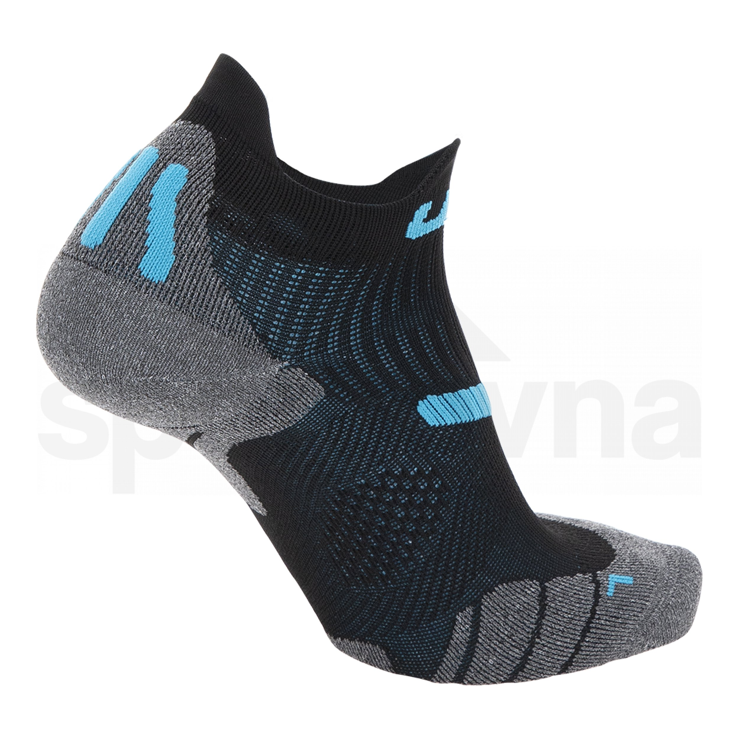 Pánské ponožky UYN RUN 2IN SOCKS - černá/modrá