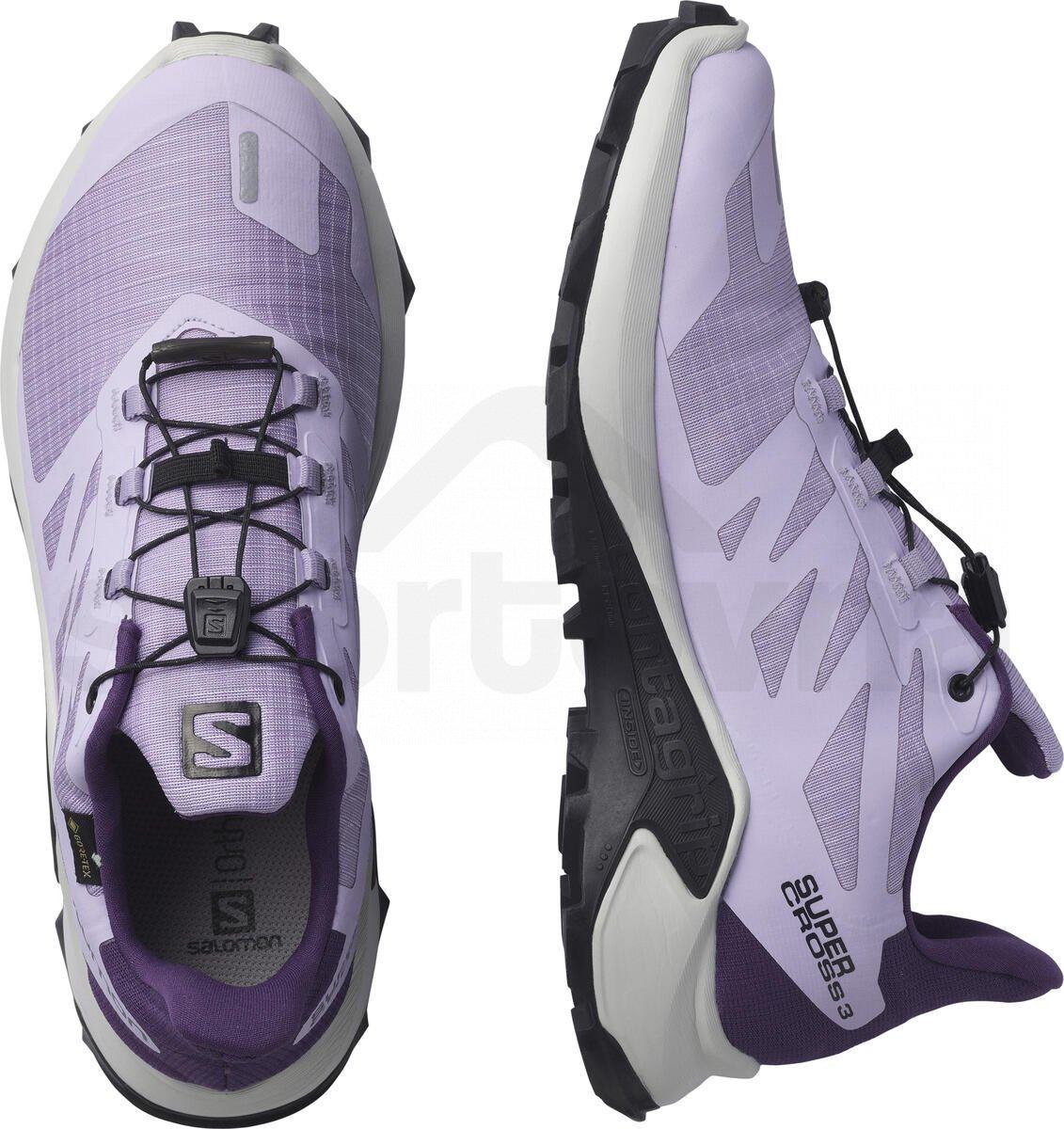 Obuv Salomon SUPERCROSS 3 GTX W - fialová/šedá
