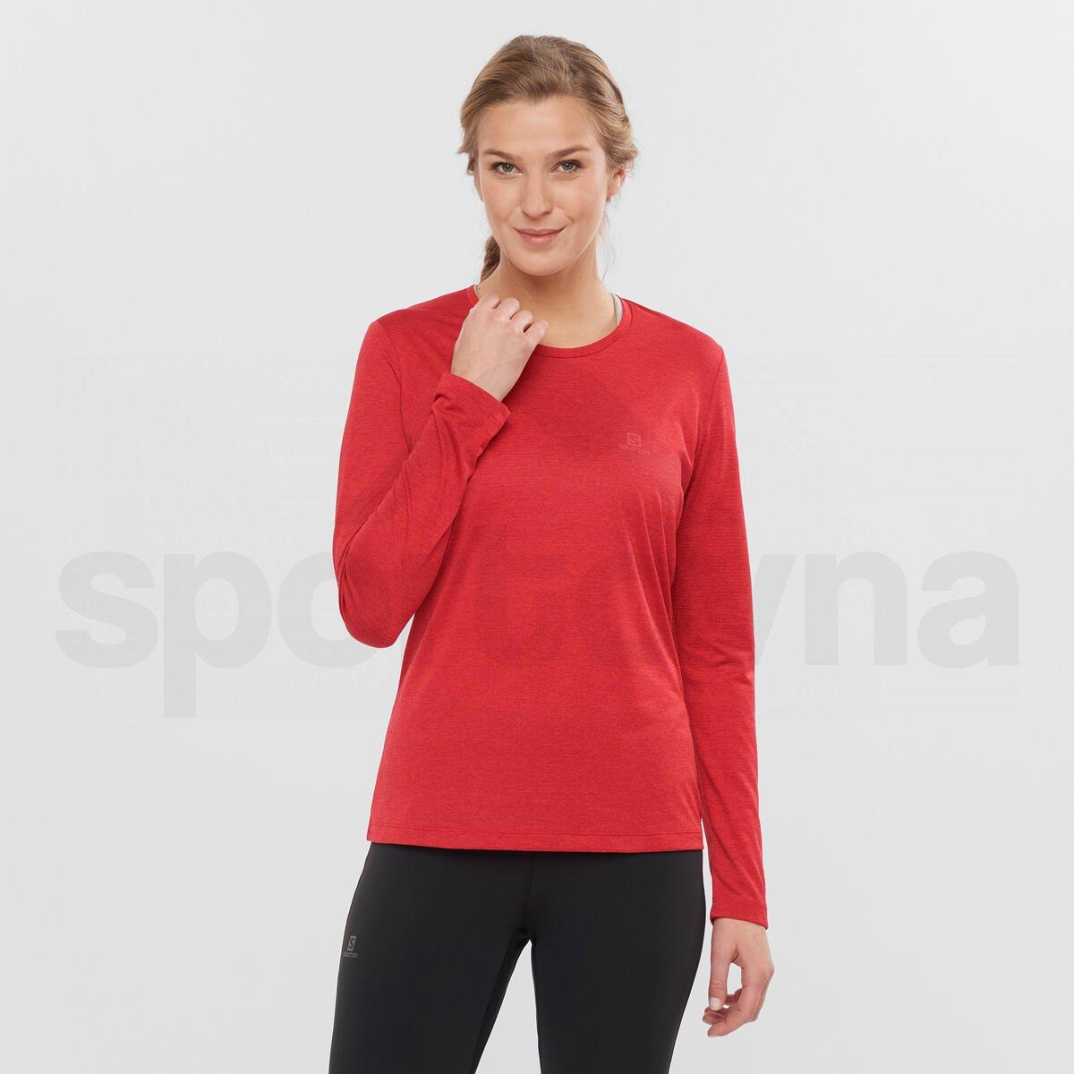 Tričko Salomon AGILE LS TEE W - červená