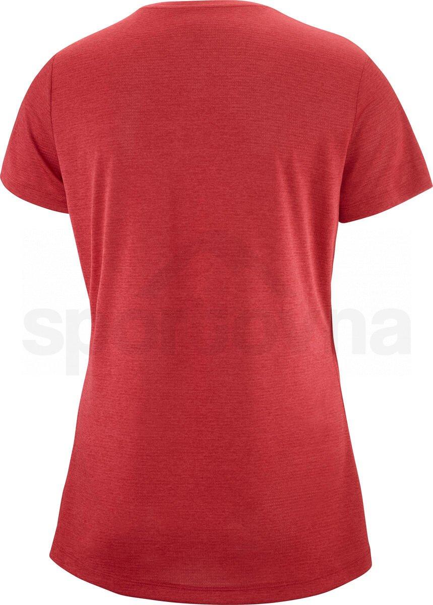 Tričko Salomon AGILE SS TEE W - červená