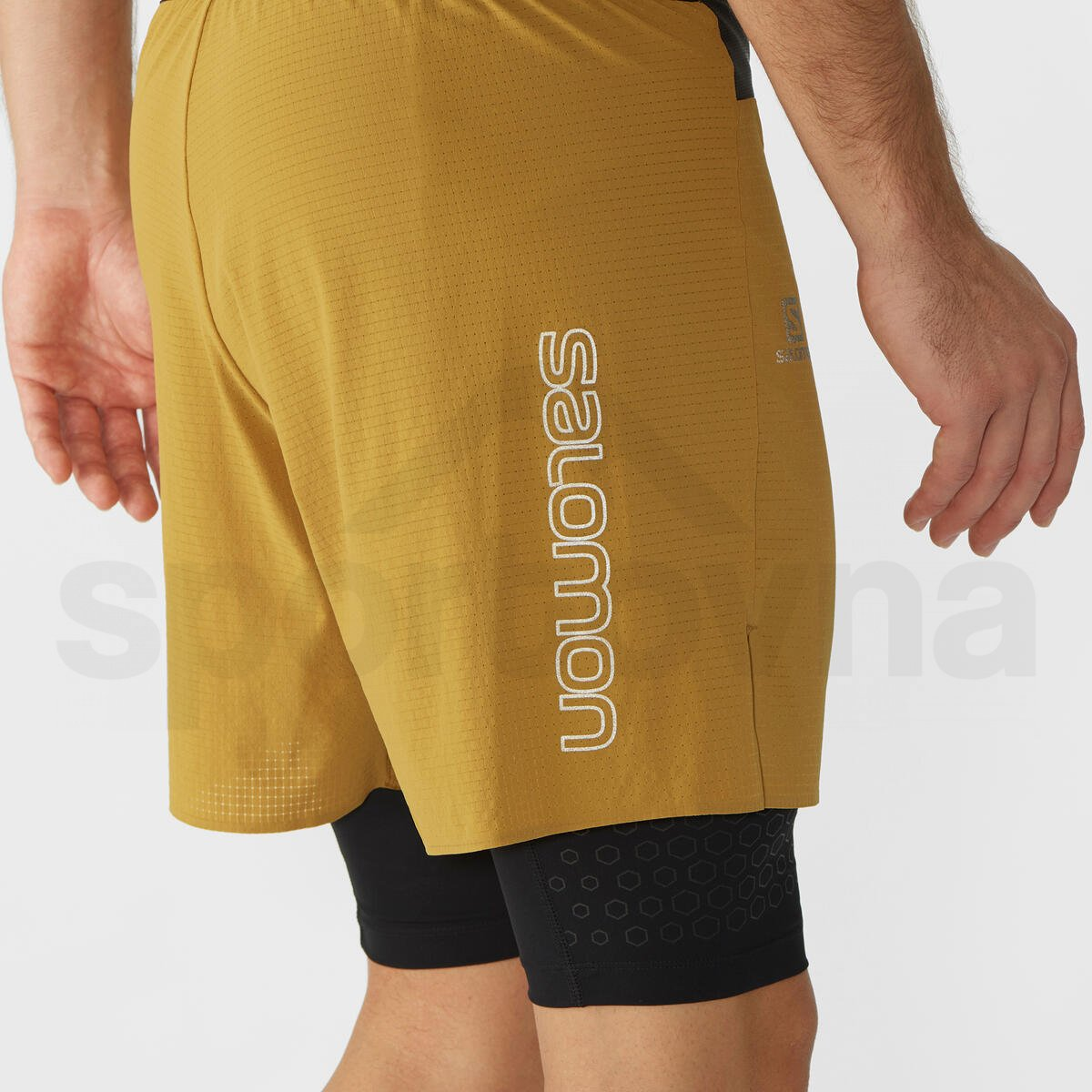 Kraťasy Salomon EXO MOTION TW SHORT M - žlutá/černá
