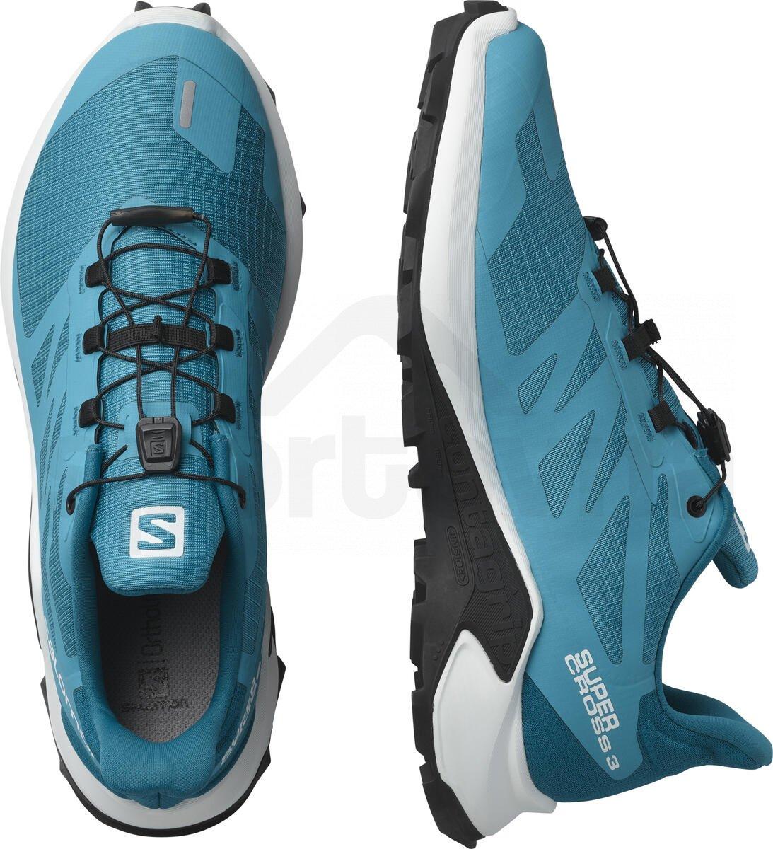 Obuv Salomon SUPERCROSS 3 W - modrá/bílá