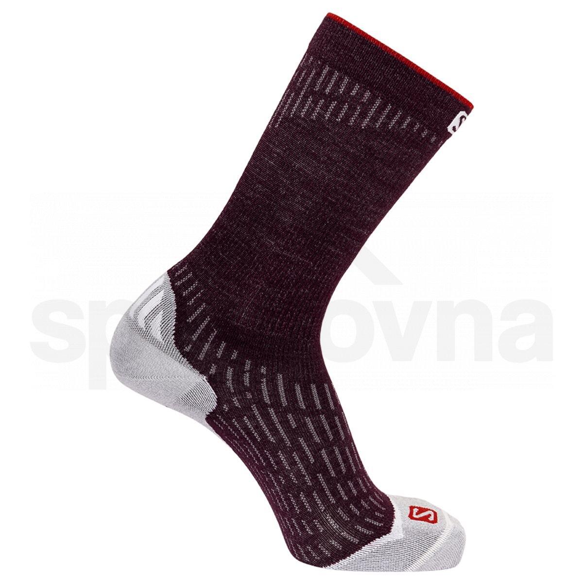Ponožky Salomon ULTRA CREW - fialová
