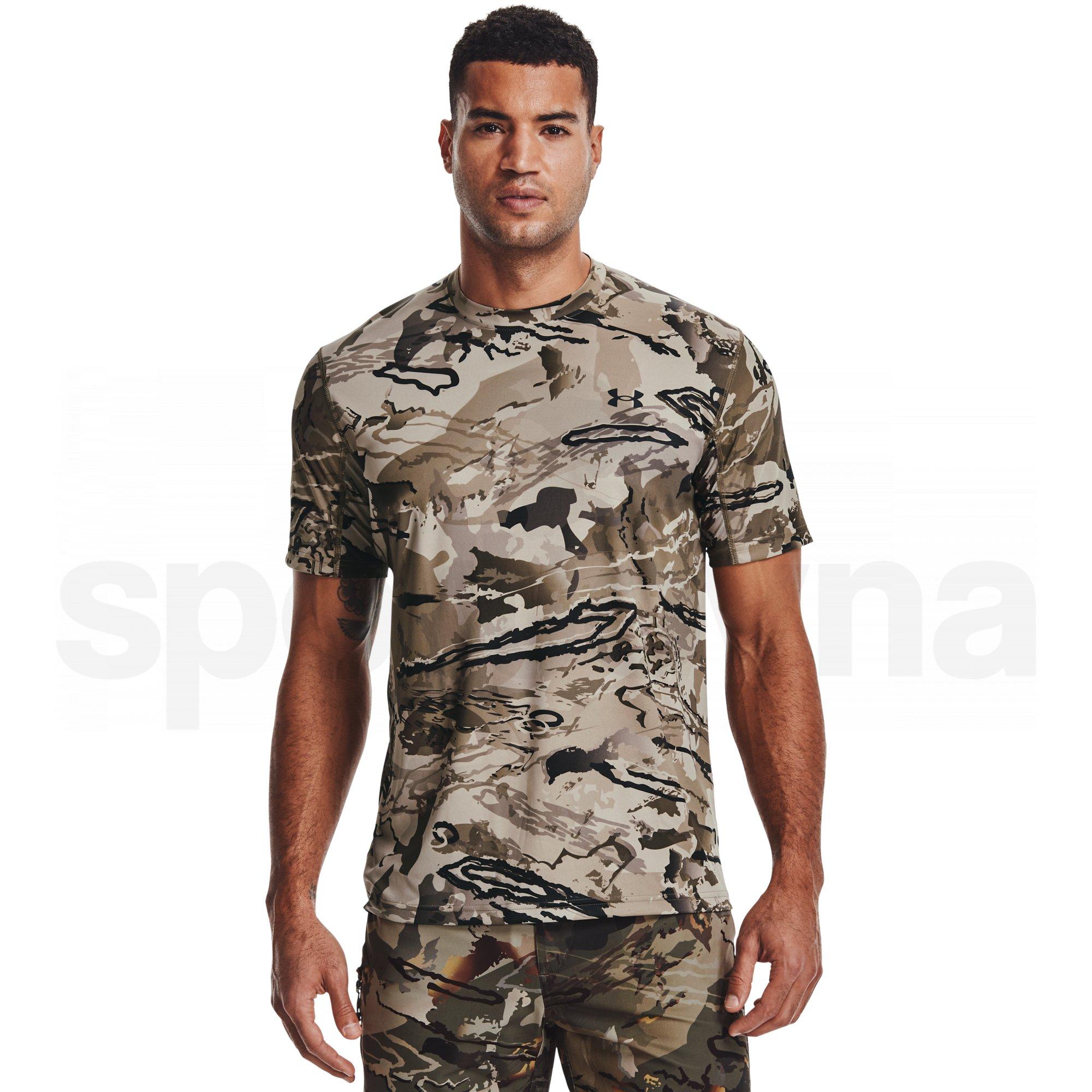 1361310-999_Pánské tričko Under Armour Iso-Chill Brushline SS M - hnědá