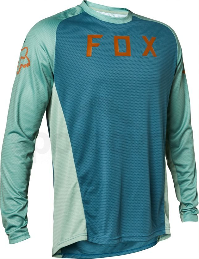 Dres Fox Defend Ls Jersey M - modrá