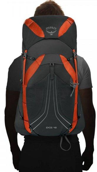 Turistický batoh Osprey Exos 48 II - černá/oranžová