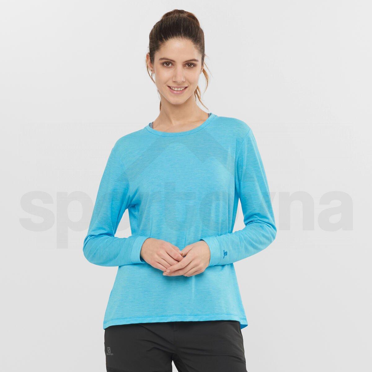 Tričko Salomon ESSENTIAL LS TEE W - modrá