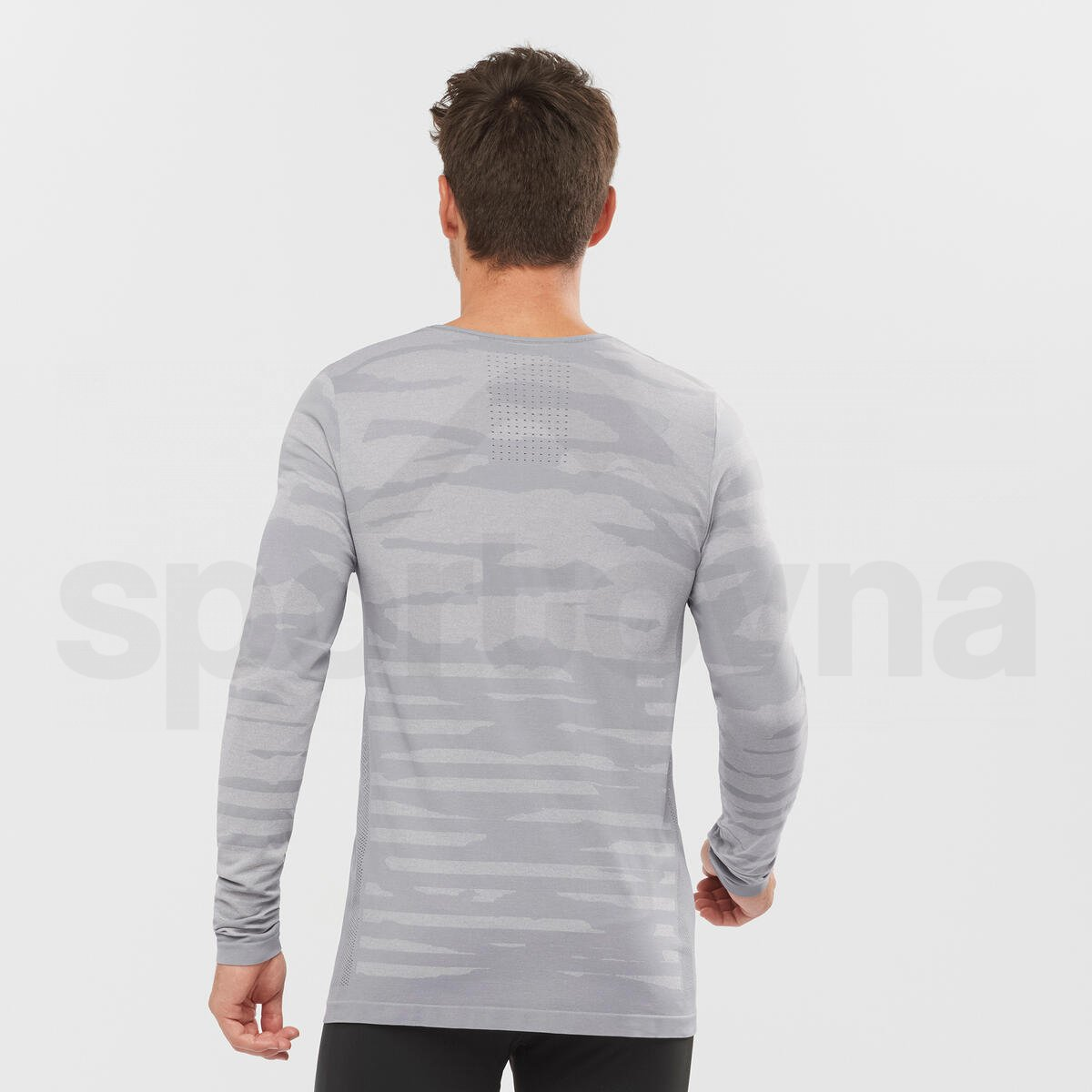 Tričko Salomon CAMO LS TEE M - šedá