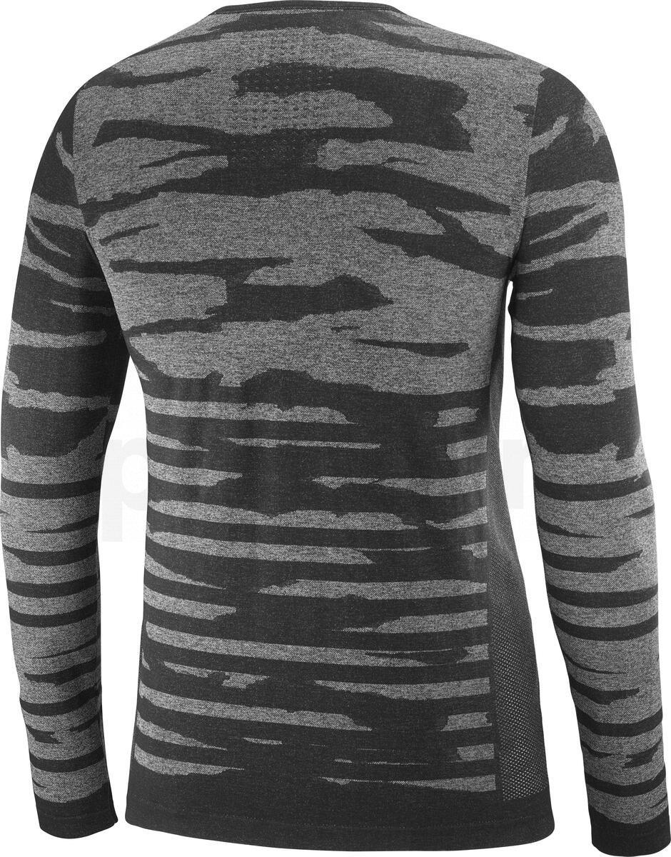 Tričko Salomon CAMO LS TEE M - černá/šedá