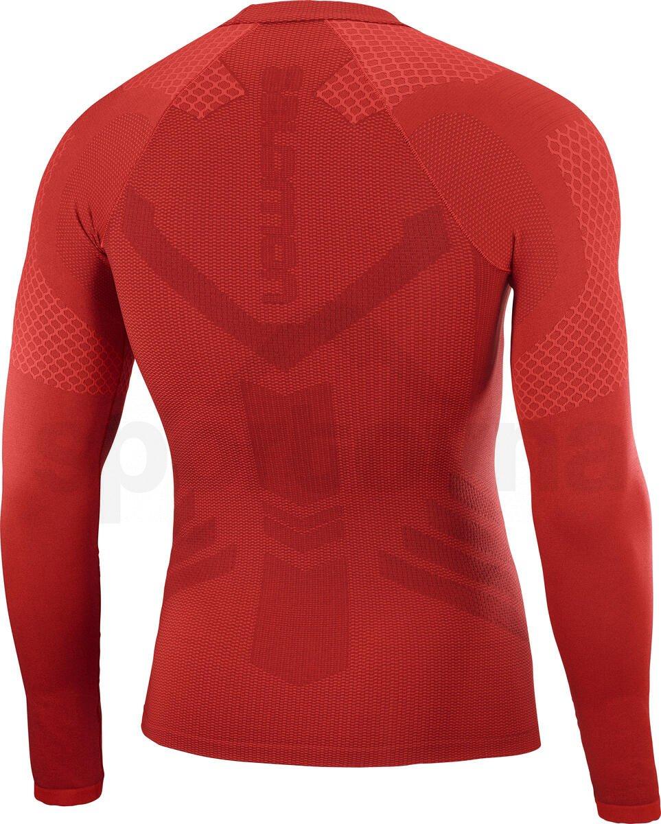 Tričko Salomon EXO MOTION LS TEE M - červená