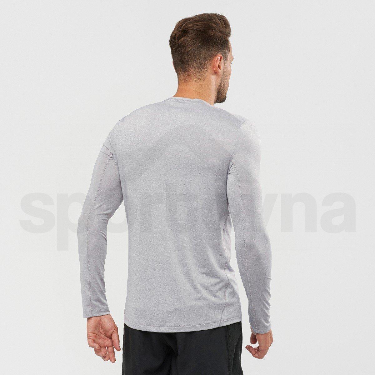 Tričko Salomon XA LONG SLEEVE TEE M - šedá