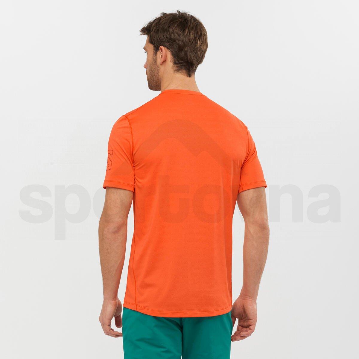 Tričko Salomon OUTLINE SS TEE M - oranžová