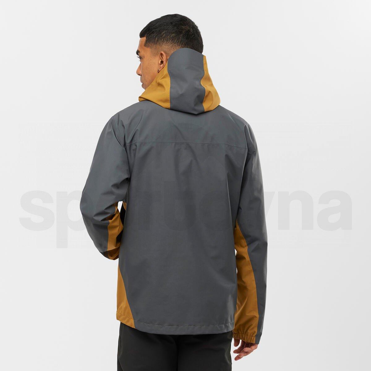 Bunda Salomon OUTLINE GTX® 2.5L JKT M - hnědá/šedá