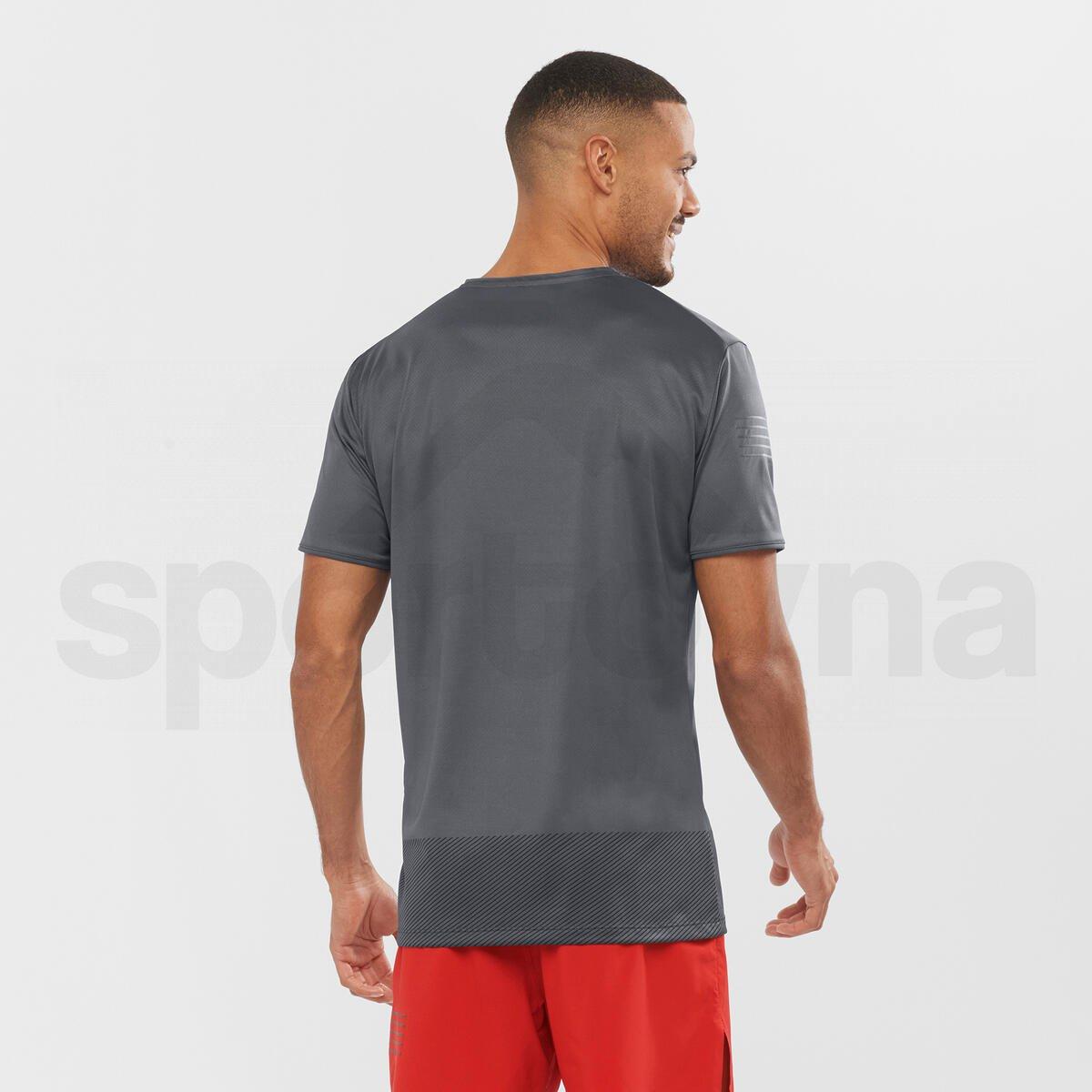 Tričko Salomon SENSE TEE M - šedá/černá