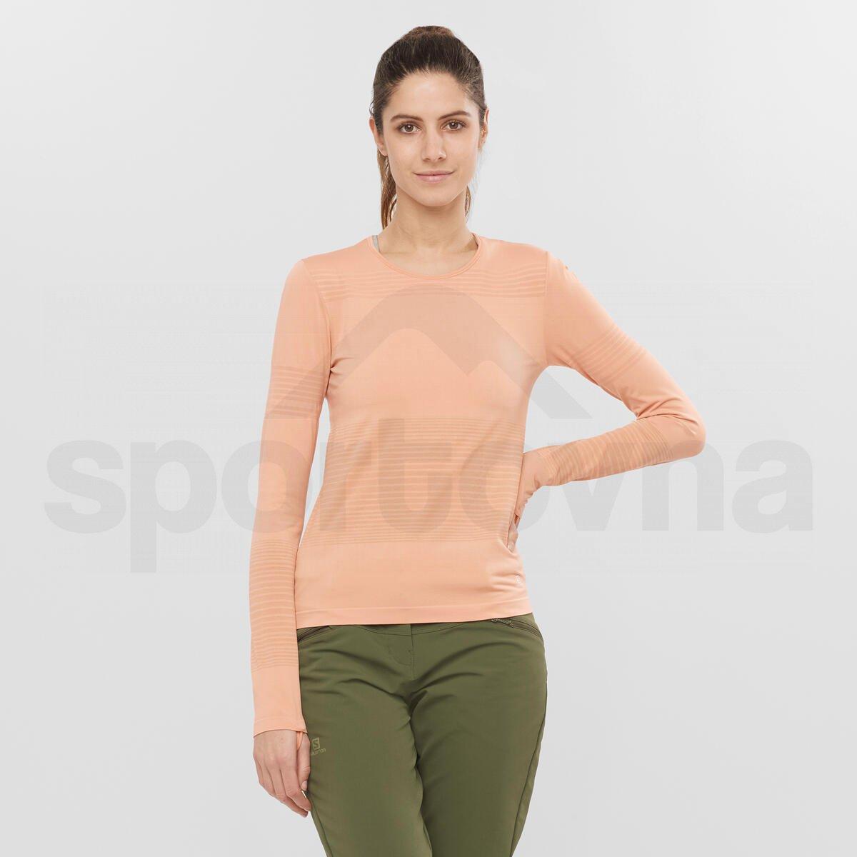 Tričko Salomon ELEVATE MOVE ON LS TEE W - růžová