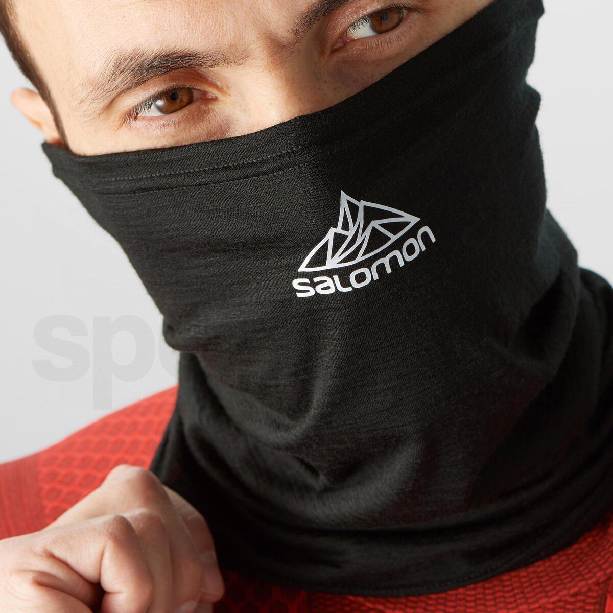 Nákrčník Salomon MTN TOUR2COOL WOOL - černá/bílá