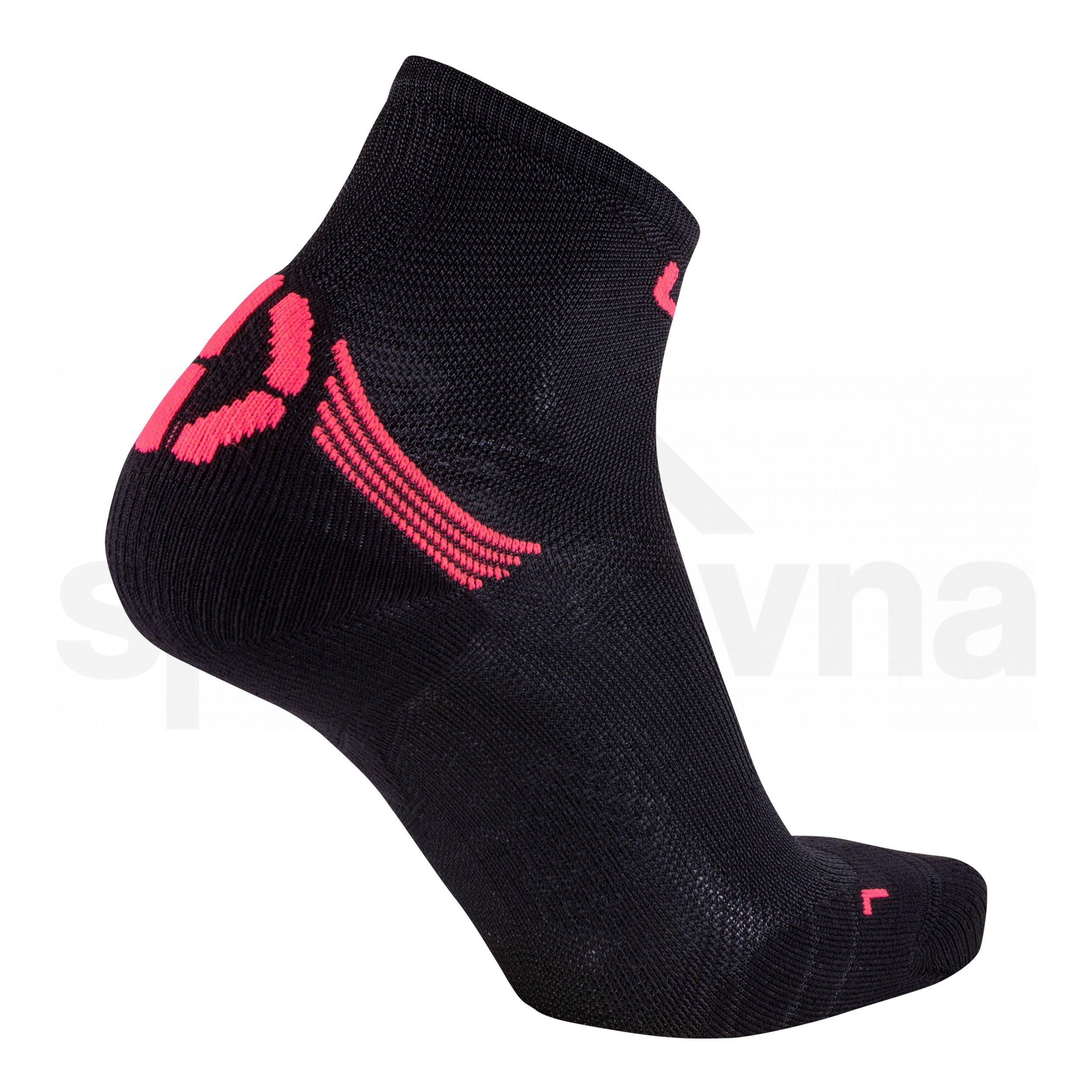 Ponožky UYN RUN SUPERLEGGERA SOCKS - černá/růžová