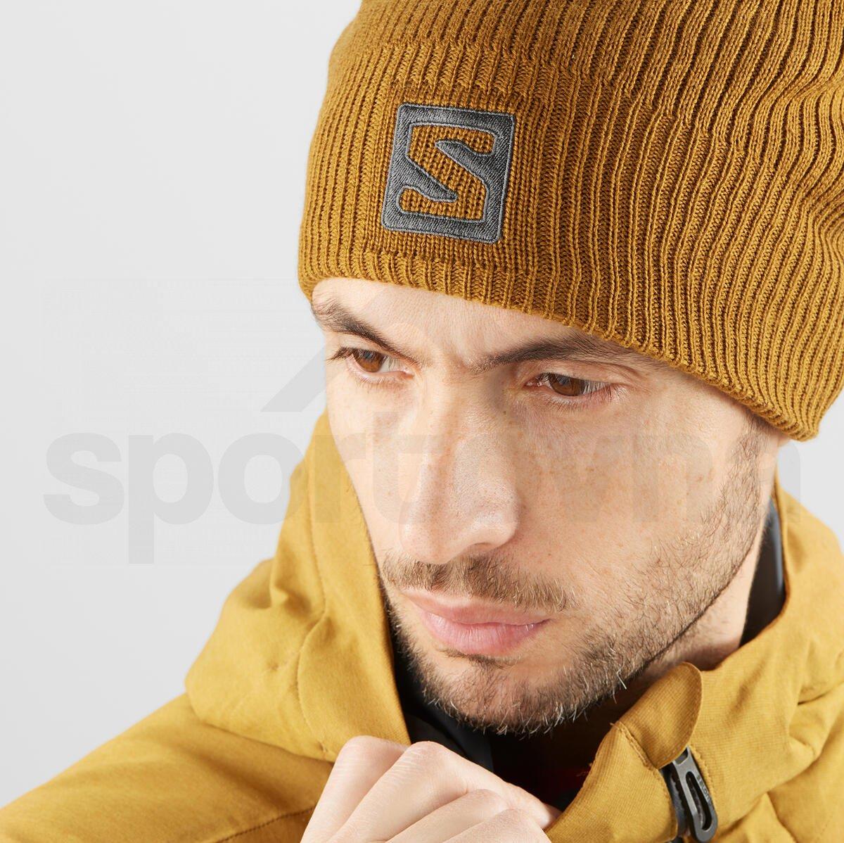 Čepice Salomon LOGO BEANIE - hnědá