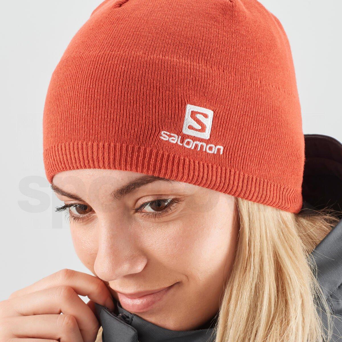 Čepice Salomon BEANIE - oranžová