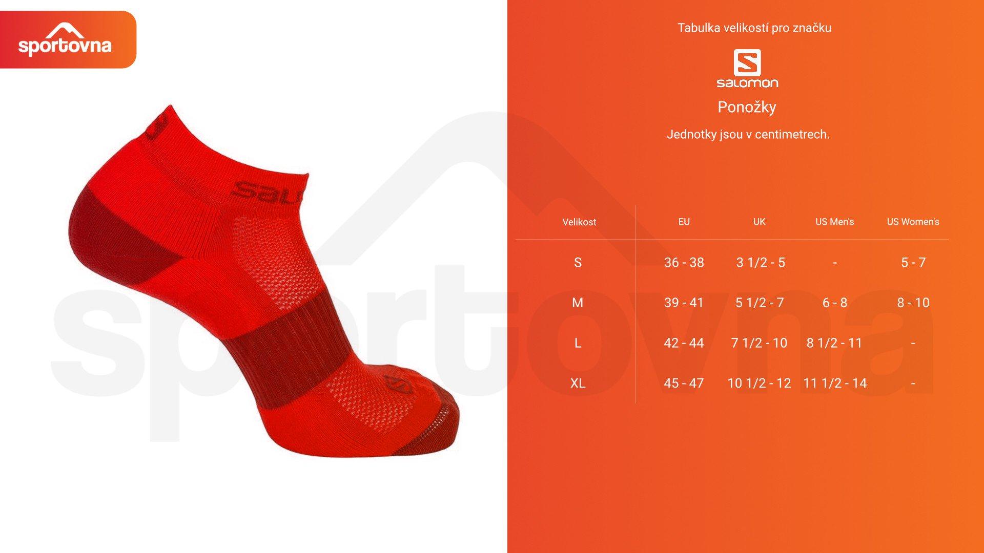 Ponožky Salomon SENSE SUPPORT - modrá/černá/šedá