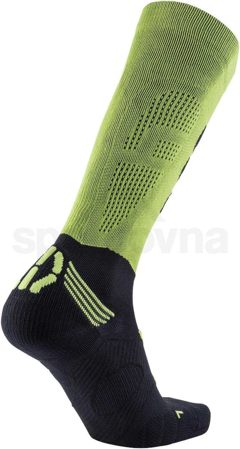 Ponožky RUN COMPRESSION FLY - zelená/černá
