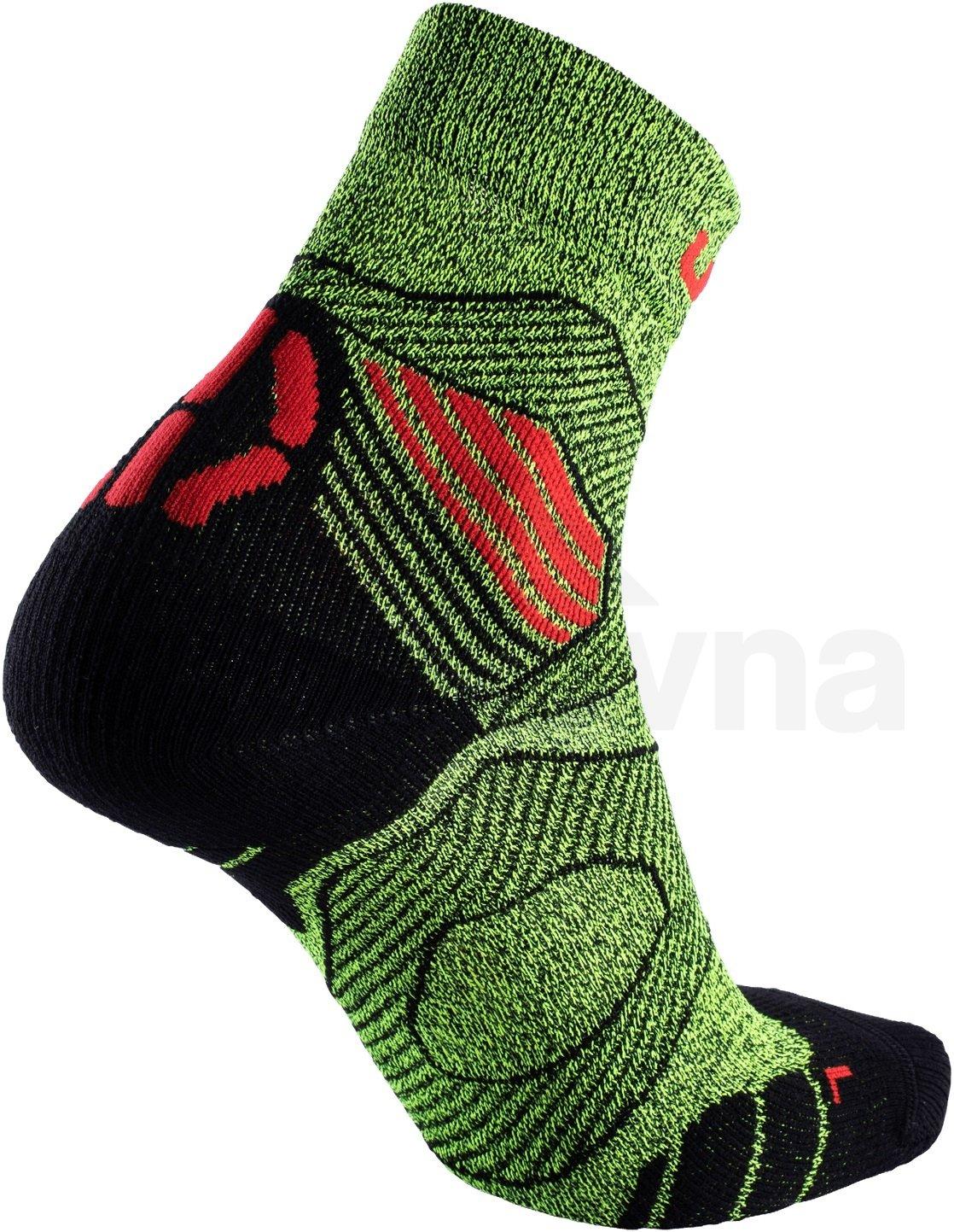 Ponožky UYN RUN TRAIL CHALLENGE - žlutá/černá/červená