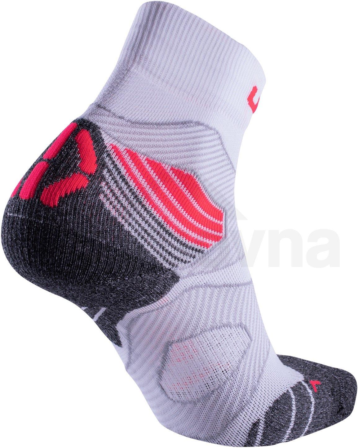 Ponožky UYN RUN TRAIL CHALLENGE - bílá/šedá/růžová