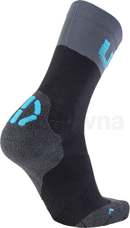 Ponožky UYN CYCLING LIGHT - černá/šedá/modrá